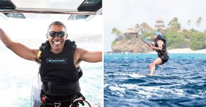 Obama kitesurf