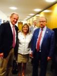 Avec Ulrich Roland, maire de Gladbeck et Bernard Gérard, maire de Marcq-en-Baroeul