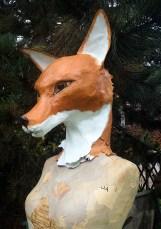 buste renard / mannequin