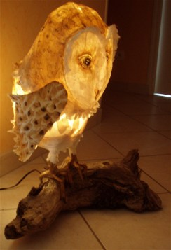 chouette lampe