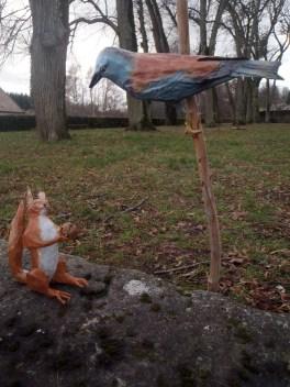 rollier d'europe + écureuil
