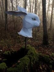 buste lapin blanc