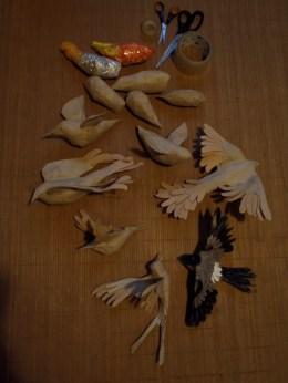 étapes d'oiseaux en papiers