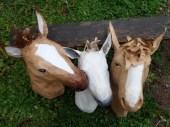 série chevaux en papier