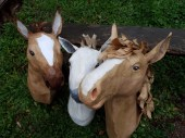 série chevaux papier