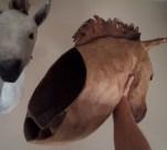 intérieur , cheval applique papier craft