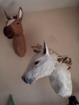 têtes chevaux papier