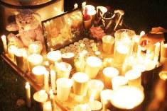Shrine to Aylan Kurdi who died seeking safety
