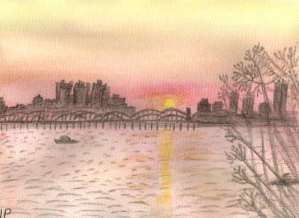 City River Sunset