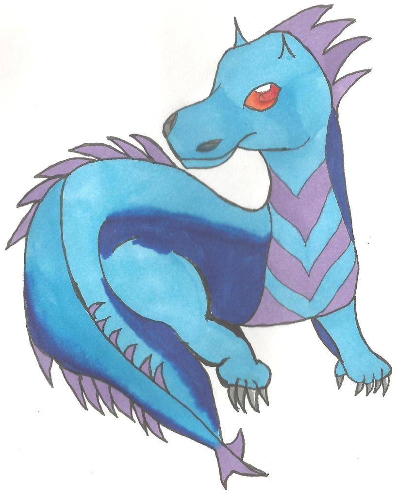 little blue dragon