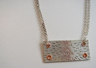 Sterling silver, copper necklace.