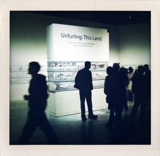 """Unfurling"" installed in SOMArts, San Francisco, group show."