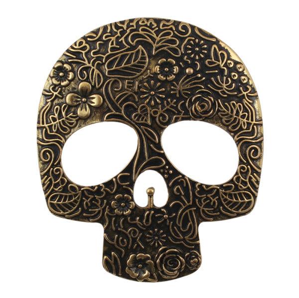 isABuckle Gold Skull Magnetic Buckle-2