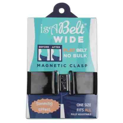 isABelt® WIDE Black Magnetic Clasp, Flat belt No Bulk (Main)