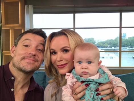 Isabelle with Amanda Holden and Ben Shepherd on This Morning