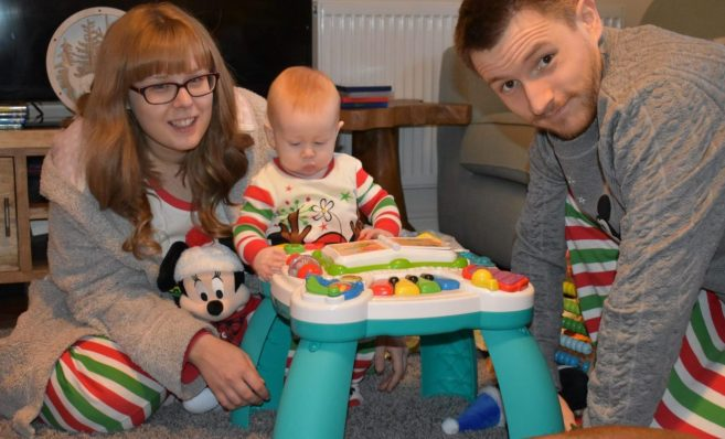 Here we are on our first Christmas with our baby Isabelle