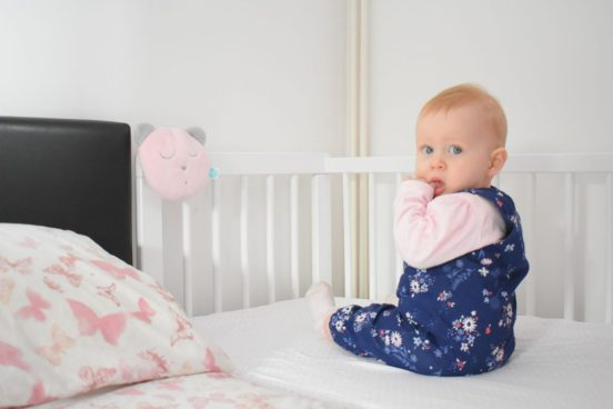 Our Next-to-me cot that we use for co-sleeping safely