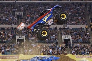 One of the monster trucks that you might see at Monster Jam