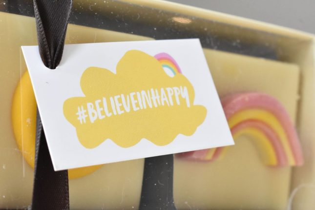 the chocolates for the #BelieveinHappy range by Funky Pigeon - all part of the Happy Bag