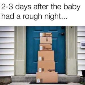 2-3 Days after the baby had a rough night