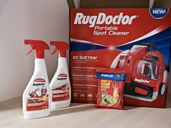 The Rug Doctor Portable Spot Cleaner plus other products to help tackle those muddy autumn walks