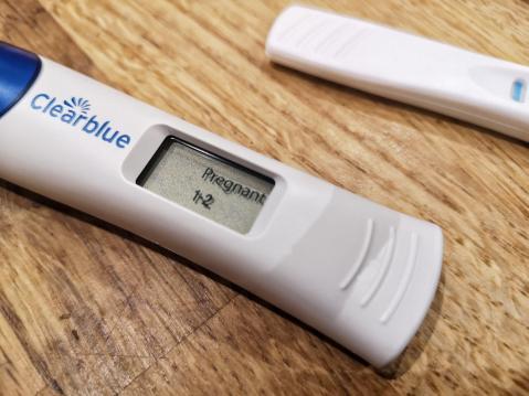Clear Blue positive pregnancy test