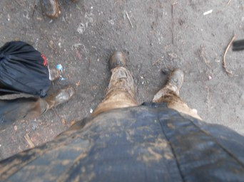 I was a little muddy by the end of it.