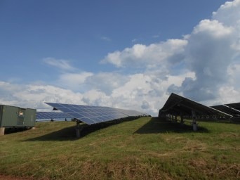The largest solar field in Rwanda is on ASYV land and I got the opportunity to tour it!