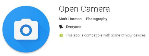 OpenCameraAndroidApp