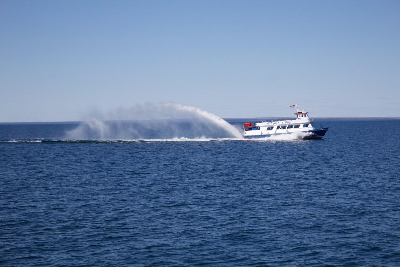 Ferry from Mackinac City to Mackinac Island