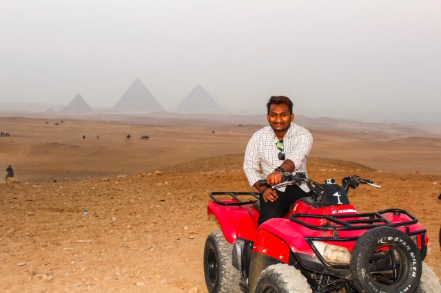 Me at the Great Pyramids