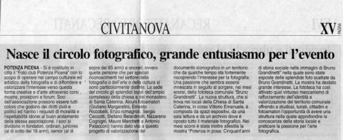 Corriere Adriatico - cronaca locale del 7-4-2008.
