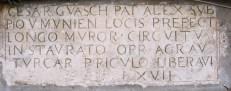 Epigrafe marmorea restaurata