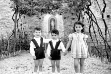 I fratelli Gino, Mario e Virmilia Ciarrocchi.