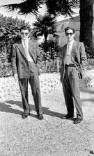 Giuseppe Rinaldelli e Fausto Grandinetti al Pincio.