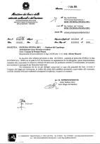 Lettera della Soprintendenza per i Beni Architettonici e Paesaggistici delle Marche del 7/1/2015