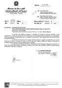 """Lettera della Soprintendenza di Ancona relativa all'Auditorium """"F. Scarfiotti"""" del 19/2/2016."""