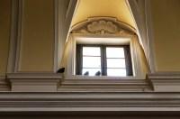 Piccioni all'interno della Chiesa di S. Francesco. Foto Sergio Ceccotti.