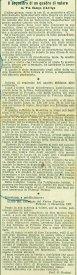 Articolo tratto dal quotidiano il nuovo giornale di Firenze del giorno 2-12-1907 dove si parla della tavola di Bernardino di Mariotto venduta. ASCPP.