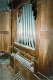 Organo Giovanni Fedeli del 1757 prima del restauro collocato in cantoria. Foto Bruno Grandinetti.