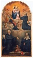 La vergine con il Bambino, Santa Chiara, il Beato Antonio da Amandola, San Clemente da Osimo e Sant'Agostino - sec XVIII autore ignoto - foto luigi anzalone