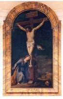 La Maddalena ai piedi della croce - sec. XVIII Pietro Tedeschi (opera firmata) foto luigi anzalone
