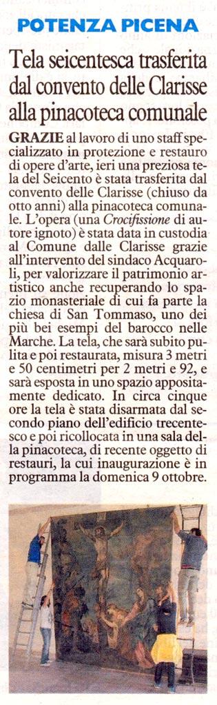 Il Resto del Carlino - cronaca locale 30/9/2016