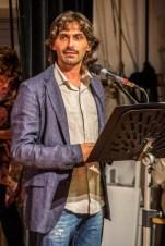 Riccordo Pastocchi mentre recita le poesie dello zio Giovanni. Quarto premio Poesia Giovanni Pastocchi - 18-9-2016. Foto di Elisa Cartuccia.