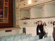 Visita di Vittorio Sgarbi a Potenza Picena il 14 Aprile 2007. All'interno del Teatro Mugellini. Foto di Nico Coppari.