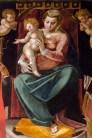 Particolare del quadro Madonna con Bambino e i Santi Rocco e Martino di Simone de Magistris 1584. Foto di Sergio Ceccotti.