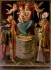 Madonna con Bambino e i Santi Rocco e Martino di Simone de Magistris 1584. Foto di Sergio Ceccotti.