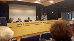 Intervento di Riccardo Pastocchi alla presentazione libro di poesie 'O Mondesando Mia' di Giovanni Pastocchi 16-12-2016. foto di Paolo Reucci