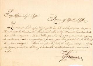 Lettera del Prof. Aristide Marazzi all'ing. Giuseppe Pierandrei del 25-4-1891. A.S.C.P.P.