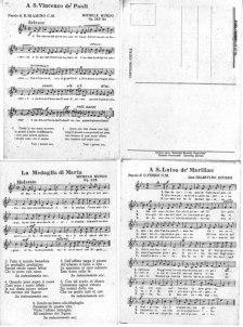 Cartoline musicali delle Figlie della Carità. ASCPP